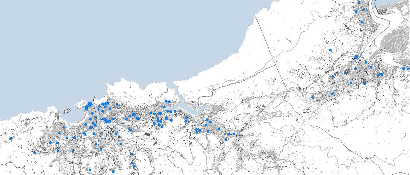 mapa de obras destacadas