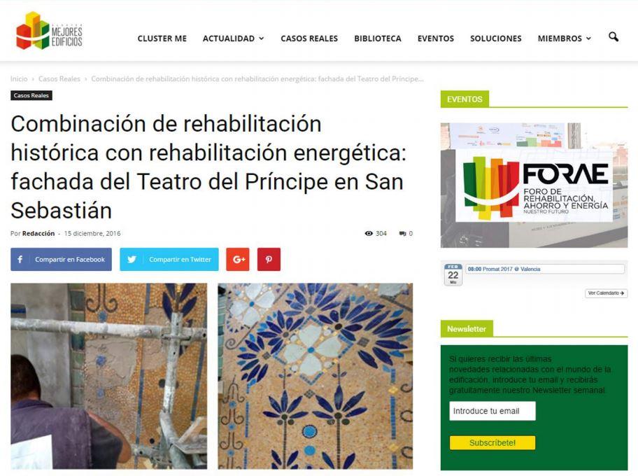 foto noticia: Artículo propio de nuestra intervención en FORAE publicado en la web