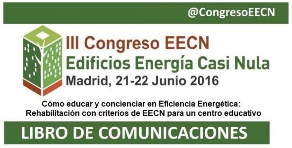 foto noticia: Comunicación de Kursaal Green publicada en el Libro de comunicaciones del III Congreso Edificios Energía Casi Nula (EECN)