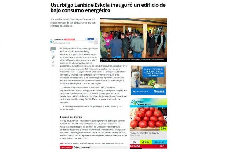 imagen 2 de noticia: artculo-en-diariovascocom-sobre-la-inauguracin-del-edificio-enegur-donde-asesoramos