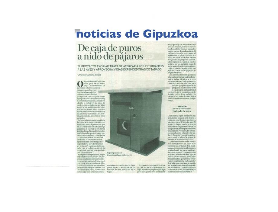 imagen noticia: artculo-en-noticias-de-gipuzkoa-sobre-la-presentacin-de-nuestra-campaa-txoriak