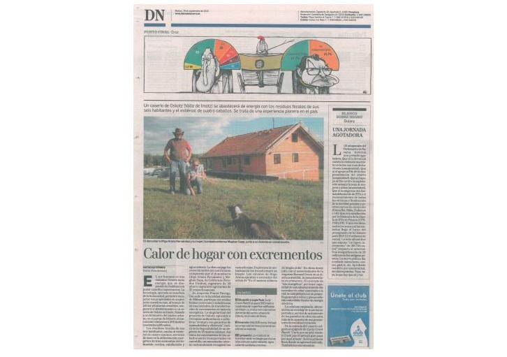 foto noticia: Artículo en el Diario de Navarra sobre la Isla Energética de Oskotz donde asesoramos