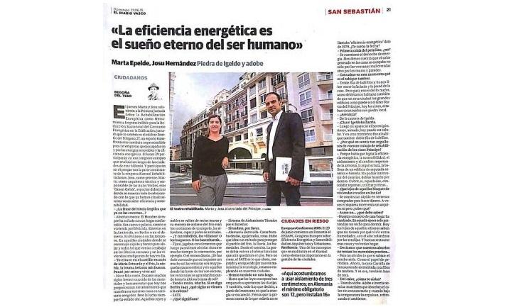foto noticia: Artículo en El Diario Vasco sobre Kursaal Rehabilitaciones