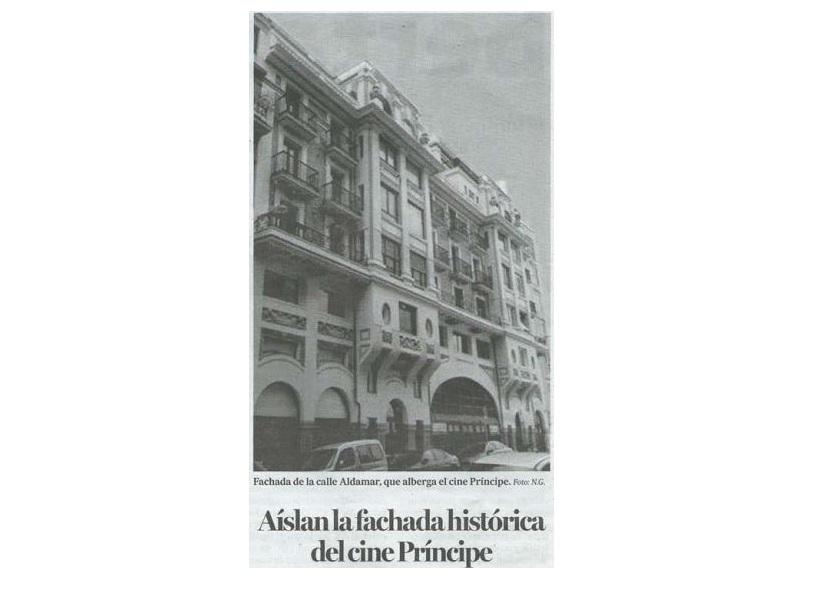 foto noticia: Artículo en Noticias de Gipuzkoa sobre el edificio Príncipe de Donostia rehabilitado por Kursaal