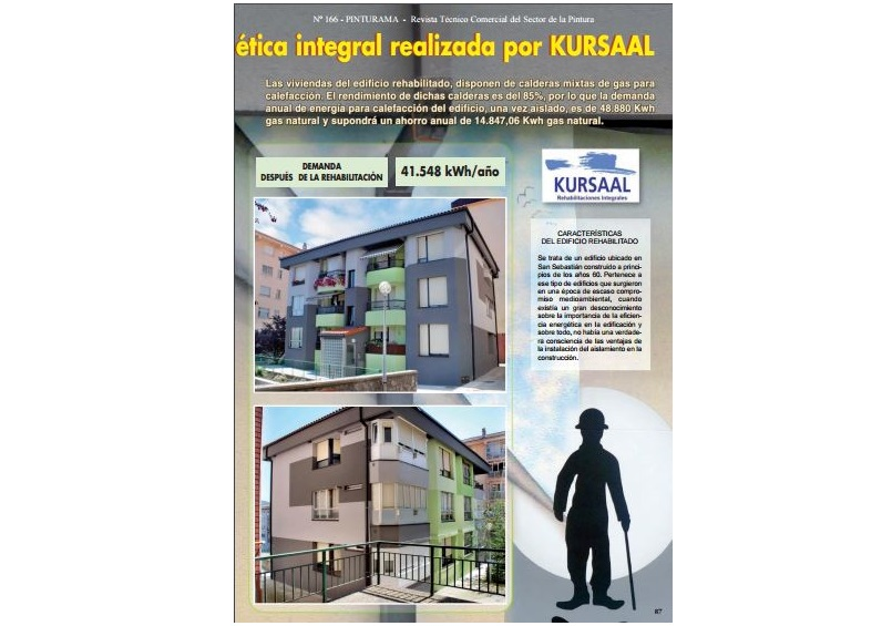 foto noticia: Nueva obra de rehabilitación energética integral realizada por KURSAAL