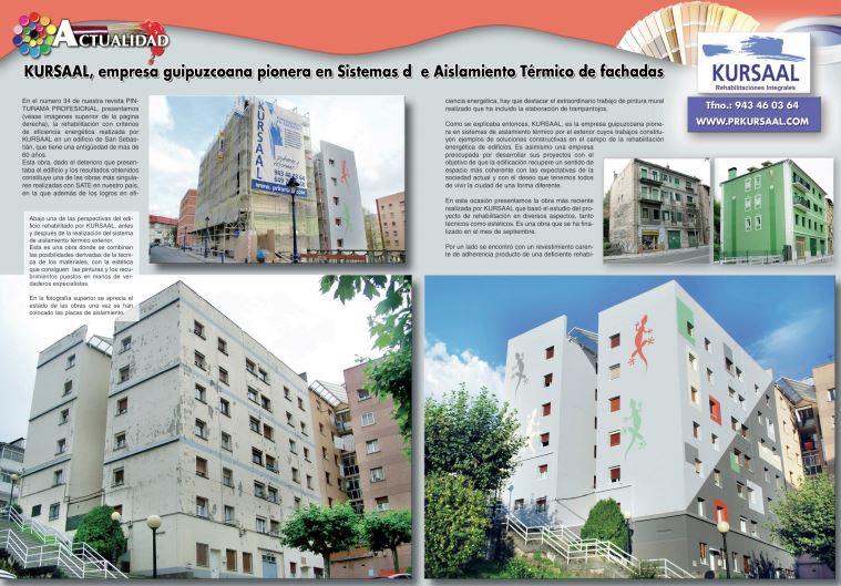foto noticia: KURSAAL, empresa Guipuzcoana pionera en sistemas de aislamiento térmico de fachadas