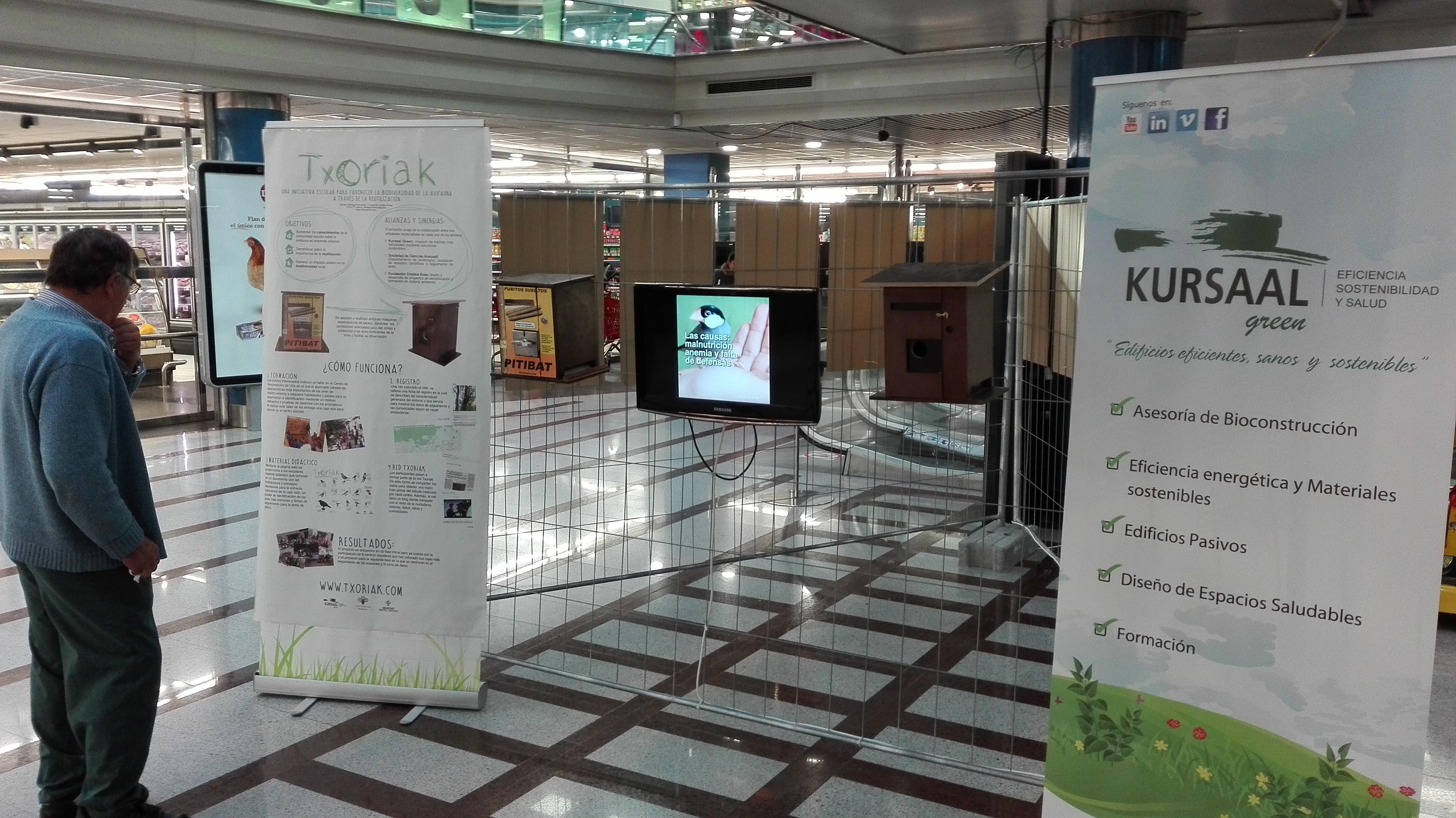 foto noticia: Kursaal Green, Cristina Enea Fundazioa y Aranzadi inauguramos la Exposición Txoriak en Arcco