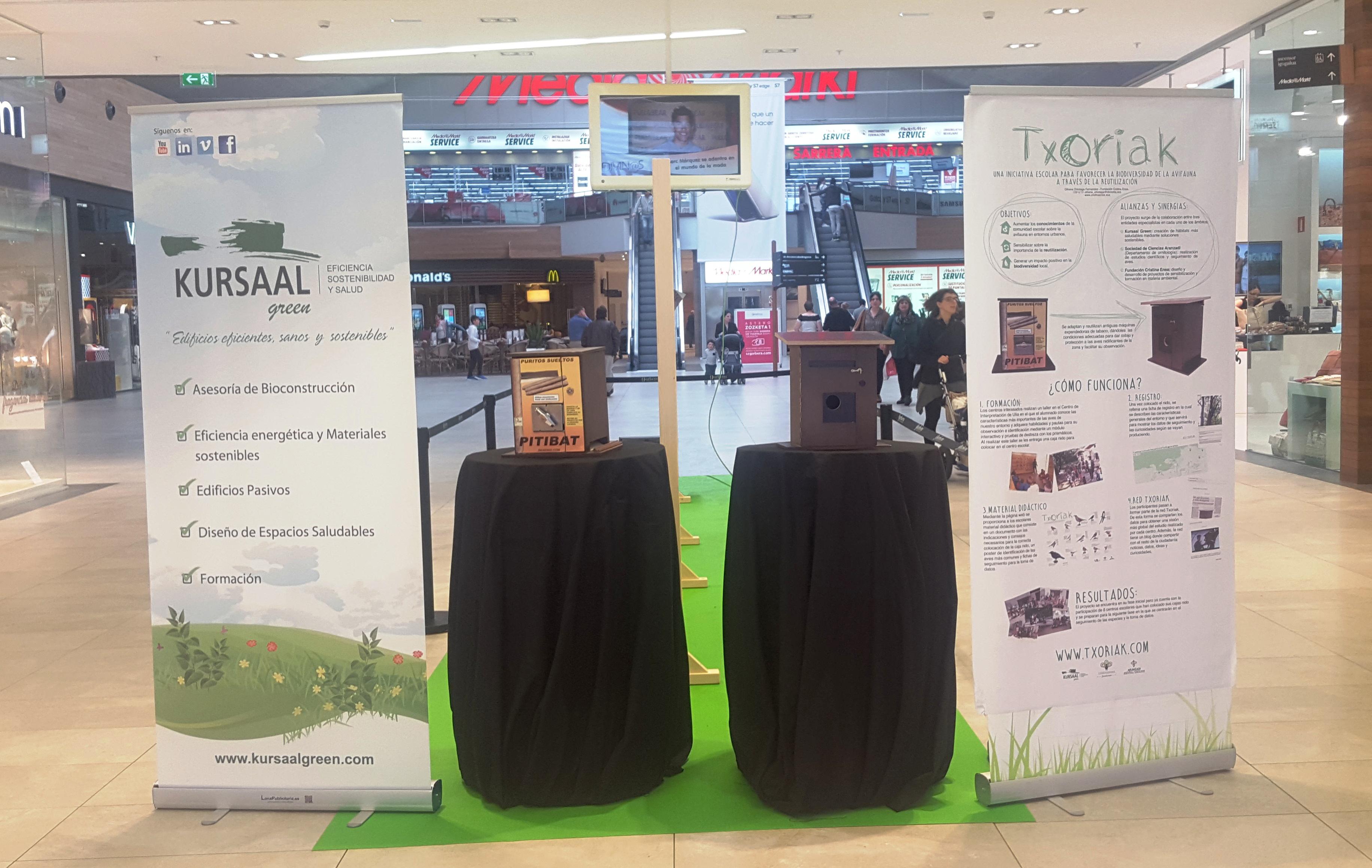 foto noticia: Kursaal Green, Cristina Enea Fundazioa y Aranzadi inauguramos la Exposición Txoriak en Garbera