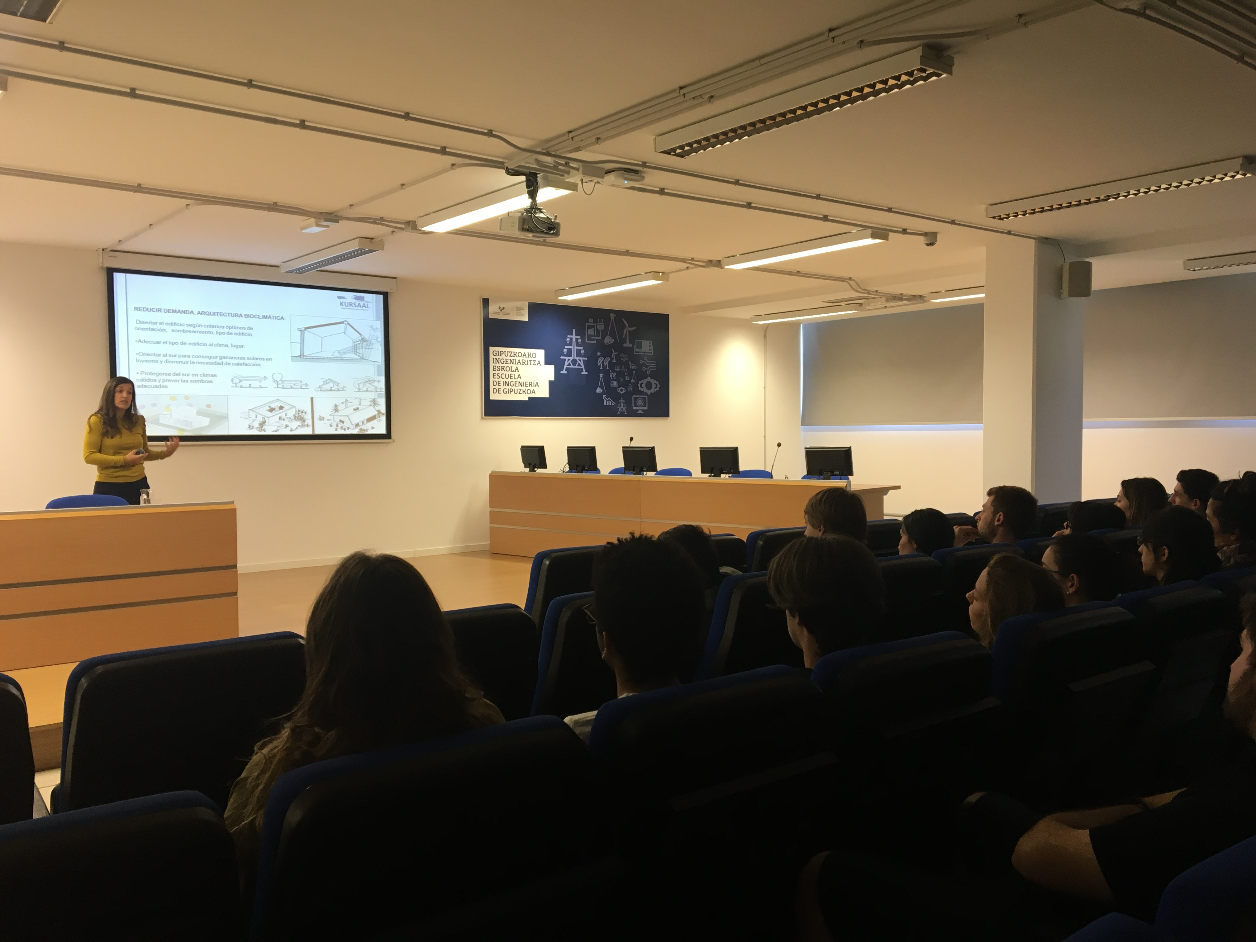 Kursaal green hemos impartido una charla en la escuela - Escuela superior de arquitectura de san sebastian ...