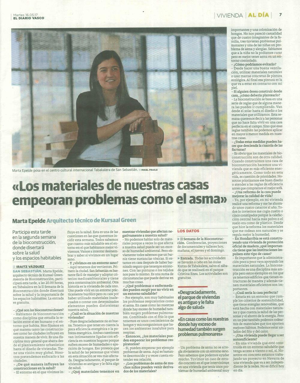 imagen 2 de noticia: entrevista-a-marta-epelde-responsable-del-departamento-de-eficiencia-y-sostenibilidad-kursaal-green-en-diario-vasco