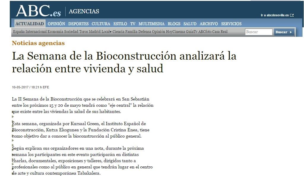 foto noticia: La 2ª Semana de la Bioconstrucción organizada por Kursaal Green, IEB, Cristina Enea y Ekogunea en ABC.es