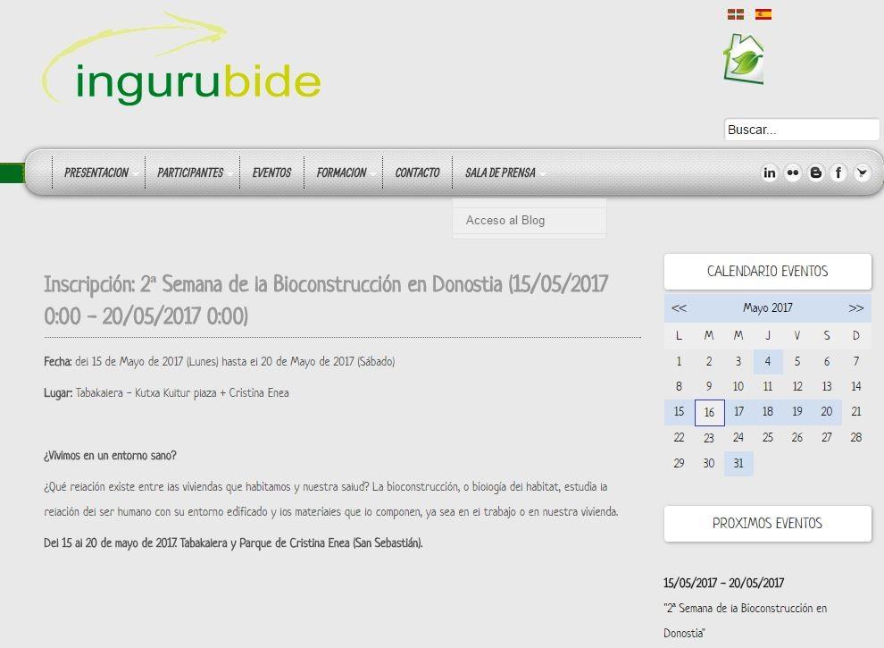 foto noticia: La 2ª Semana de la Bioconstrucción organizada por Kursaal Green, IEB, Cristina Enea y Ekogunea en Ingurubide