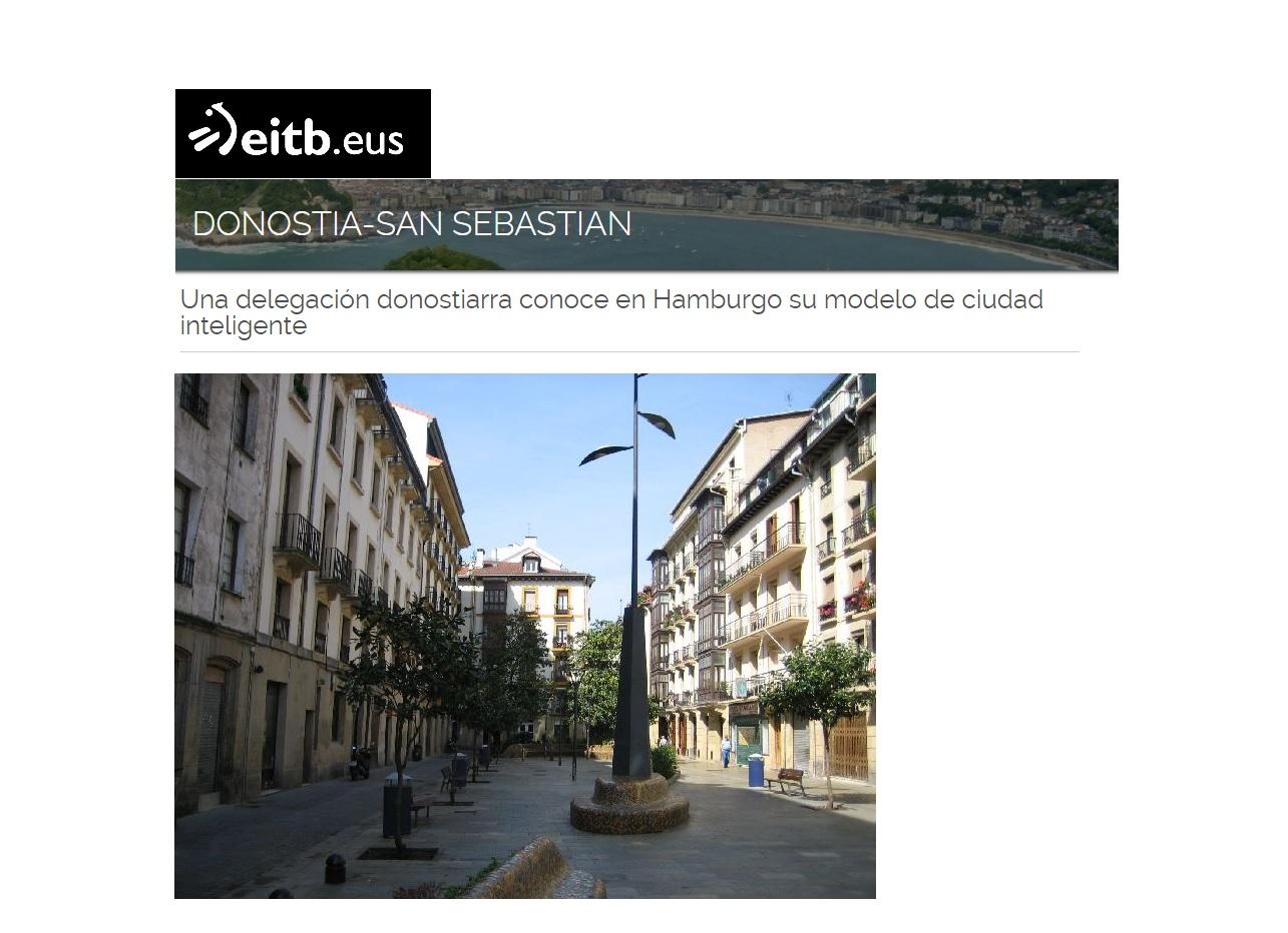 foto noticia: Noticia en EITB.eus sobre la Misión Empresarial que organiza Fomento San Sebastián, en la que participa Kursaal Rehabilitaciones.
