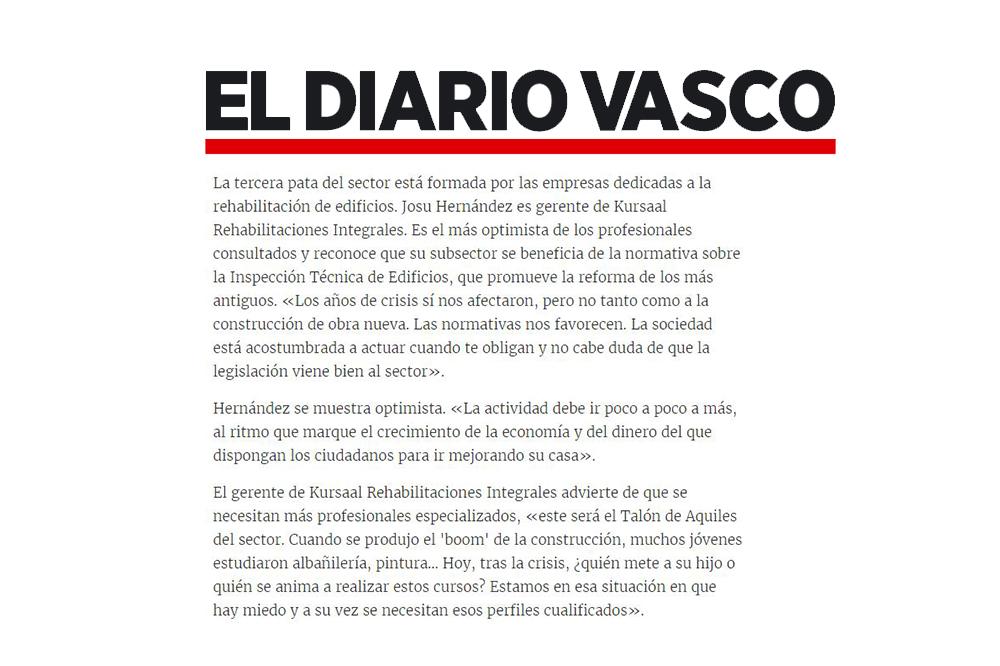 foto noticia: Entrevista a Josu Hernández en el Diario Vasco