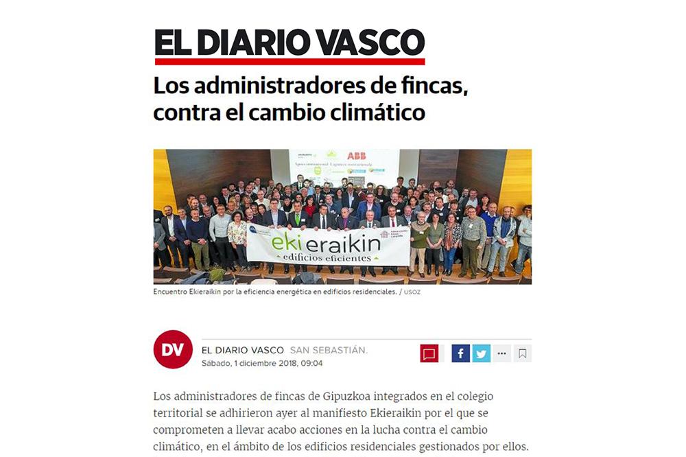 foto noticia: El I Encuentro Ekieraikin organizado por CAFGUIAL en el que participamos en el Diario Vasco