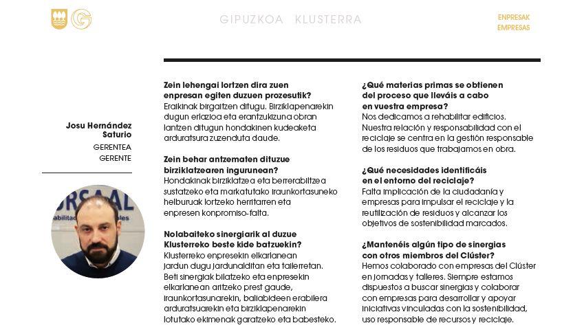 foto noticia: Entrevista a Josu Hernández, en el Catálogo de GK Recycling