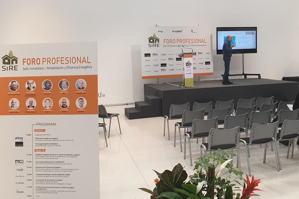 foto noticia: Asistimos al Foro Profesional del Salón Inmobiliario, Rehabilitación y Eficiencia Energética celebrado en Vitoria