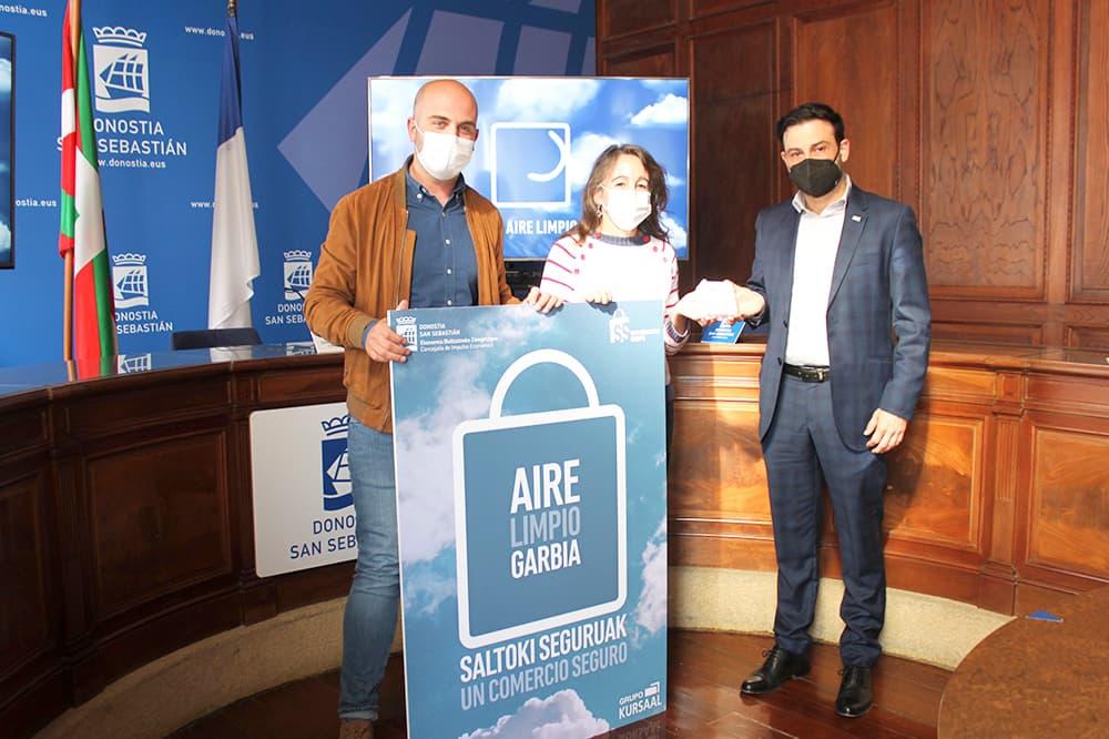 foto noticia: Grupo Kursaal, San Sebastián Shops y el Ayuntamiento de Donostia presentan los resultados del estudio de calidad del aire