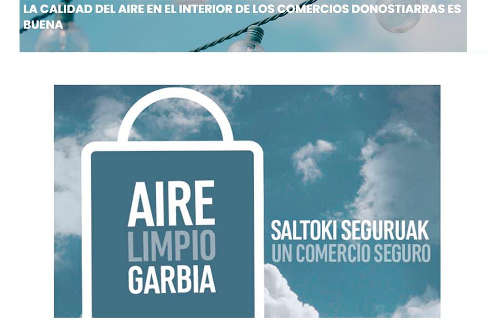 foto noticia: La calidad del aire en el interior de los comercios donostiarras es buena