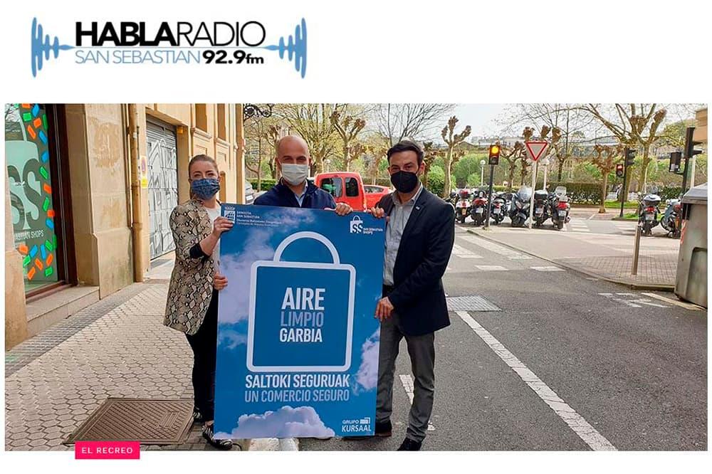 foto noticia: Presentamos junto a San Sebastián Shops el estudio de calidad del aire en el programa El Recreo, de Habla Radio