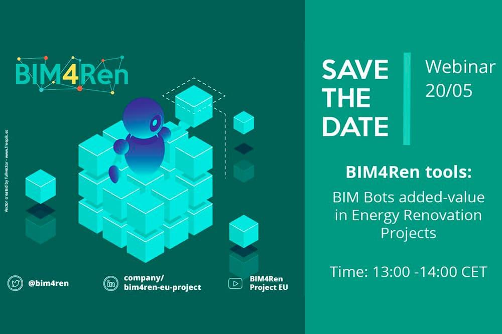 imagen noticia: el-proyecto-europeo-bim4ren-presenta-su-cuarta-webinar-valor-aadido-de-los-bim-bots-en-proyectos-de-rehabilitacin-energtica