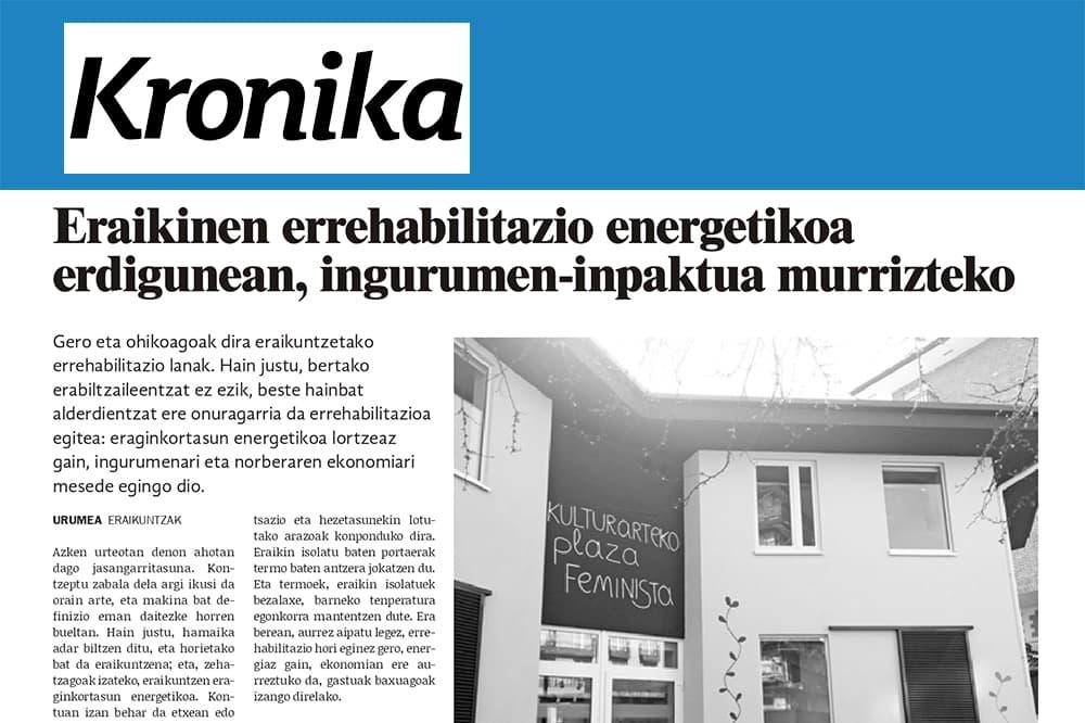 imagen noticia: reportaje-sobre-rehabilitaciones-de-eficiencia-energtica-en-kronika-eraikinen-errehabilitazio-energetikoa-erdigunean-ingurumen-inpaktua-murrizteko