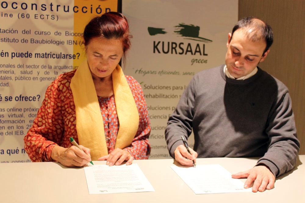 foto noticia: El IEB y Kursaal Green firman un acuerdo para fomentar la Bioconstrucción en Gipuzkoa