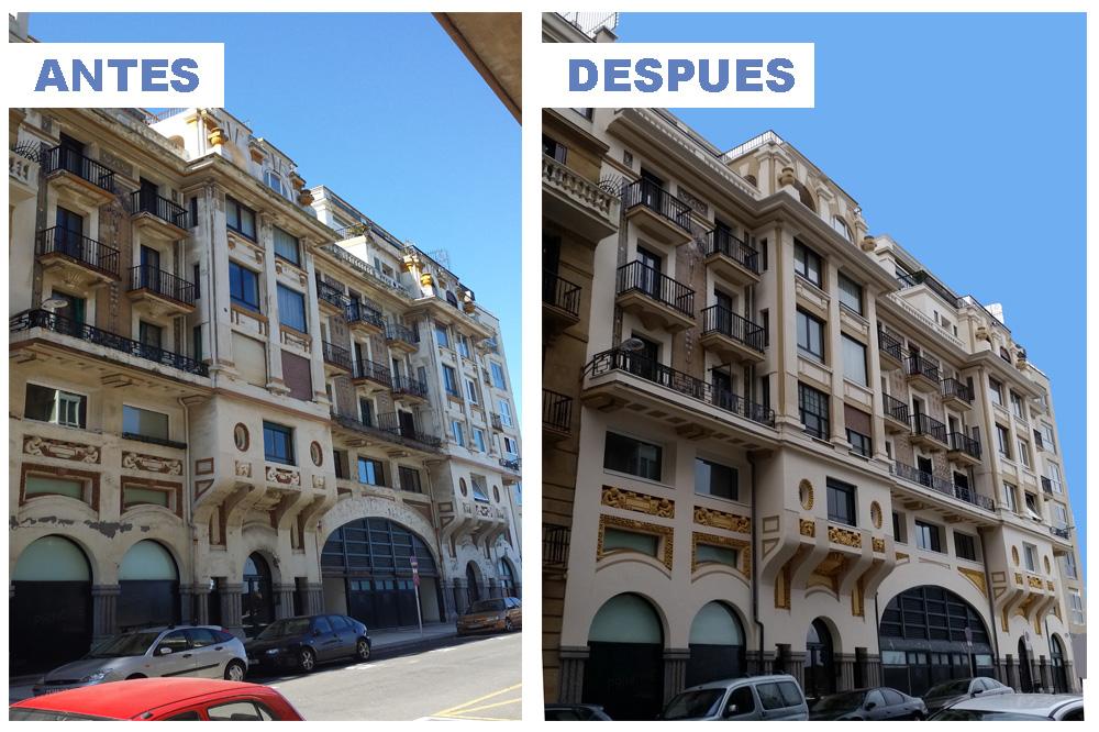 foto noticia: Nuestra obra en el edificio Príncipe de Donostia, primer edificio histórico que cuenta con aislamiento térmico