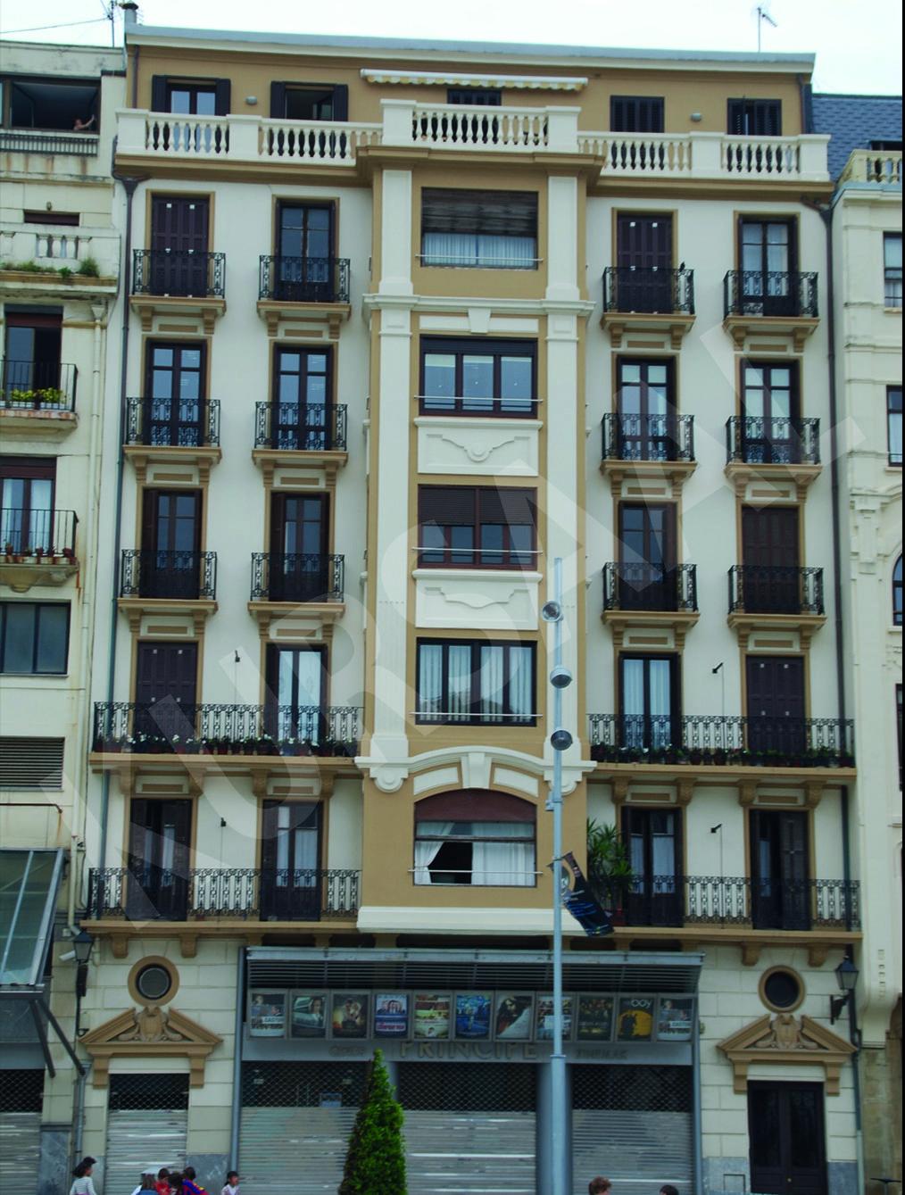 trabajo realizado en: Restauración y patrimonio-DONOSTIA-San Juan 8 Bis - Plaza Zuloaga - Cines Principe