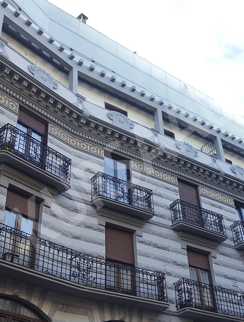 trabajo realizado en: Restauración y patrimonio-FACHADA VENTILADA-DONOSTIA-San Bartolomé 27