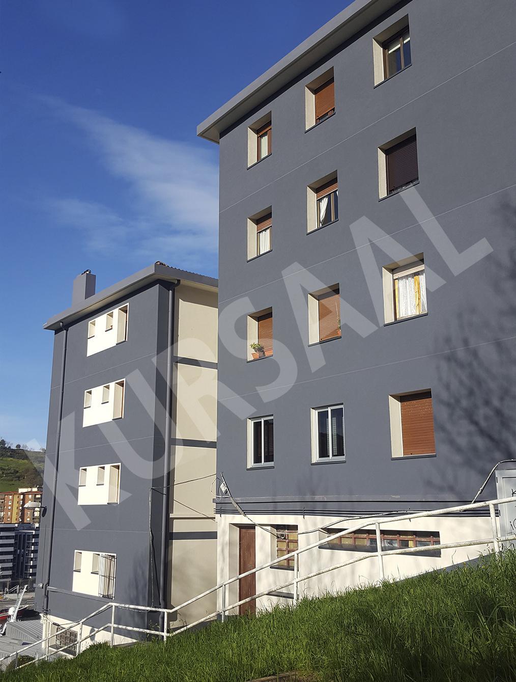 trabajo realizado en: Aislamientos Térmicos y Eficiencia Energética-FACHADA SATE-DONOSTIA, GIPUZKOA-Calzada de Oleta 35-37